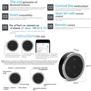 Image 5 - Kebidu araba motosiklet direksiyon müzik çalma uzaktan kumanda kablosuz Bluetooth medya düğmesi iOS/Android telefon için