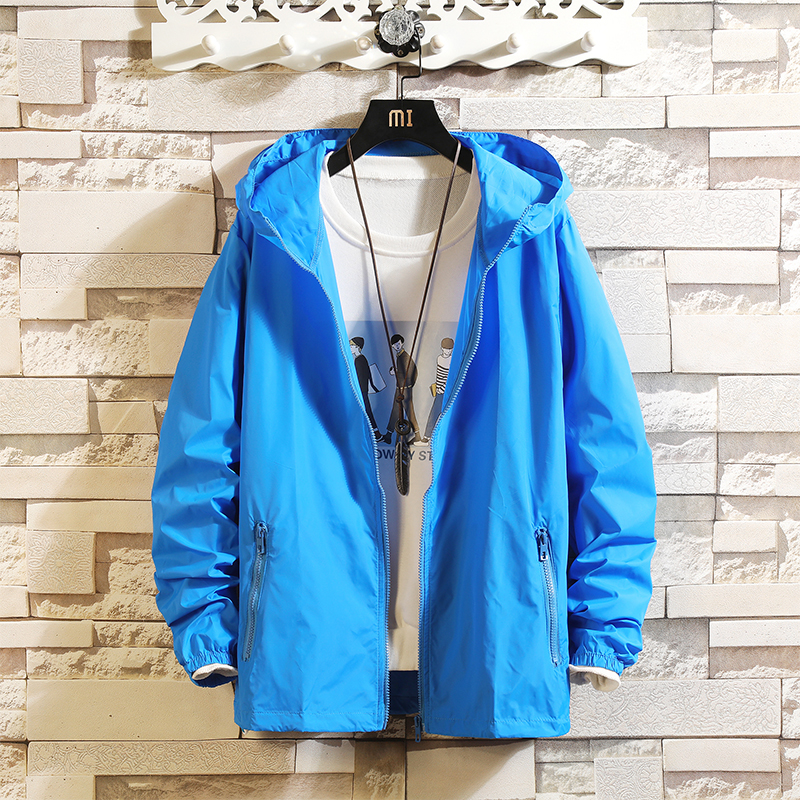 Summer new men's long-sleeved coats clothing sunscreen shirt quality hoodie men's sun protection jacket large size 7XL 5XL 6XL