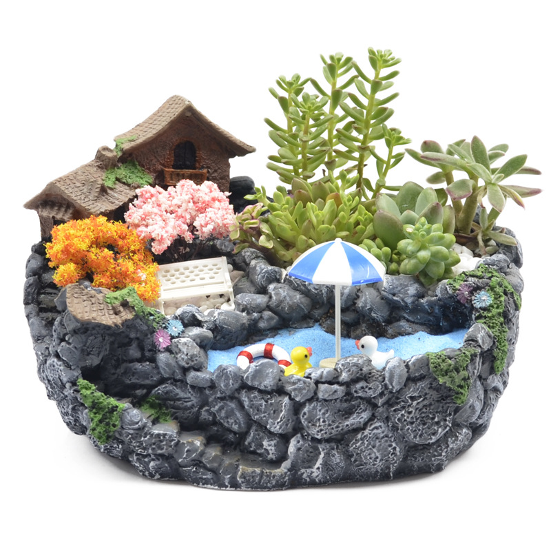Round Multi Meat Small Flower Pot