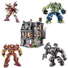 Marvel Avengers Character Building Blocks Weapon Shield Toy Hulk Steel Mech Glove Handguard Block Brick Children's Birthday Gift