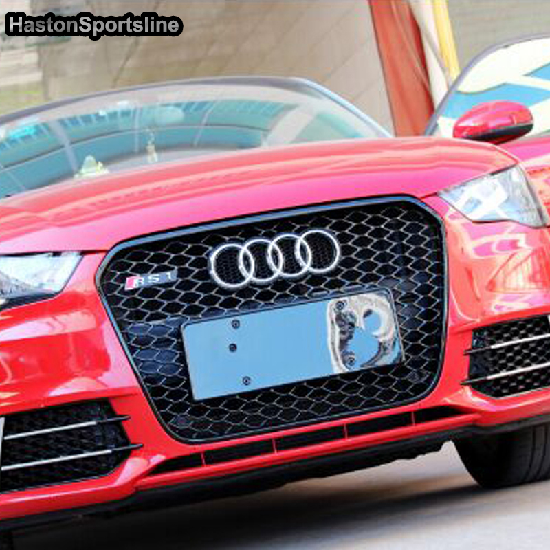 A1 Modified RS1 Style Chrome Emblem Front Hood Center Grille <font><b>Grill</b></font> for <font><b>Audi</b></font> A1 RS1 <font><b>S1</b></font> SLine 2011 2012 2013 2014 image