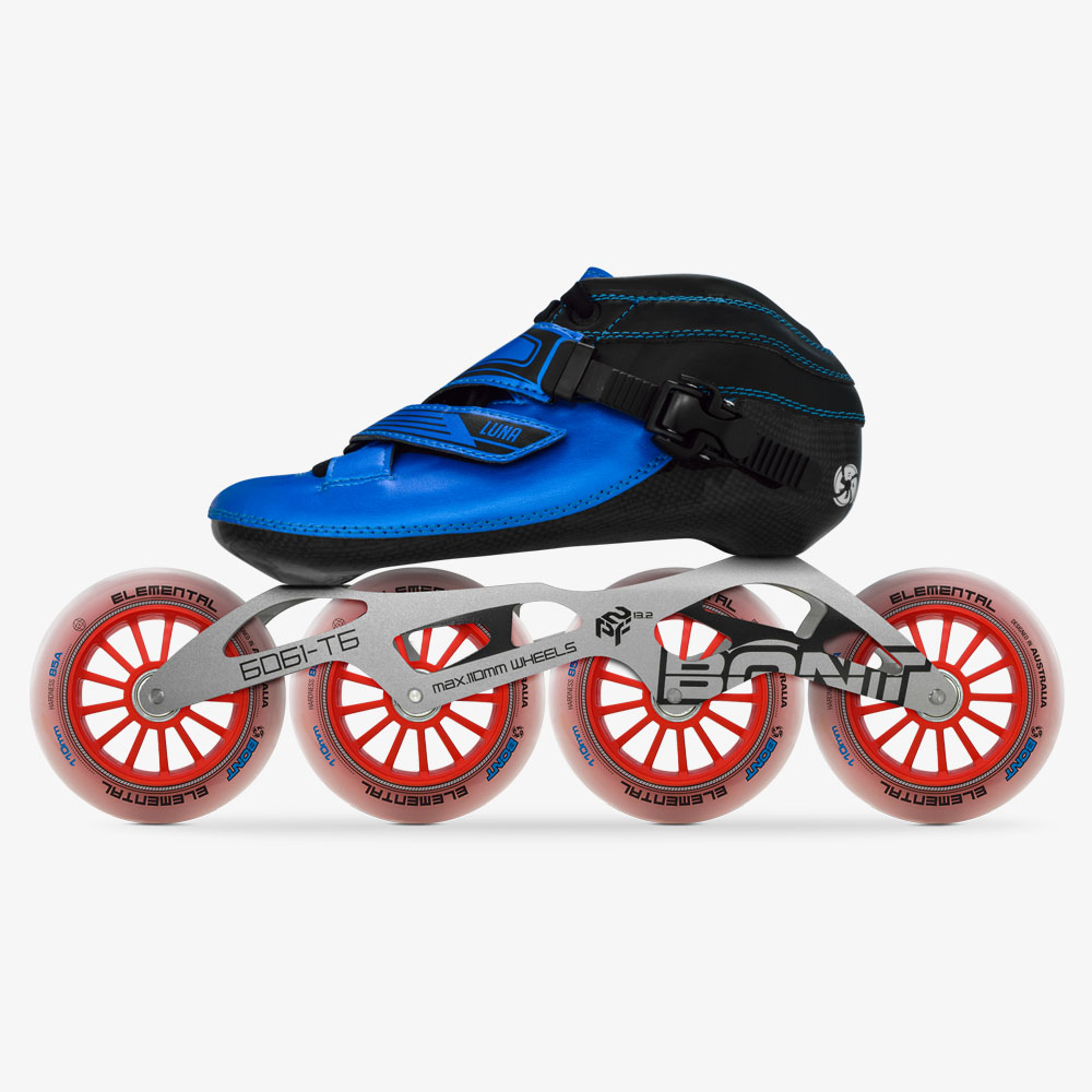 2019 Original Bont Luna Speed Inline Skates Heatmoldable CarbonFiber Boot 4*90/100/110mm 6061 Elemental Wheel Skating Patines