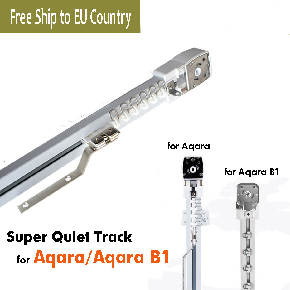 Customize Super Silent Electric Curtain Finished Rails For Aqara/Aqara B1 Motor,Aqara Home App Remote Control,free To EU Country