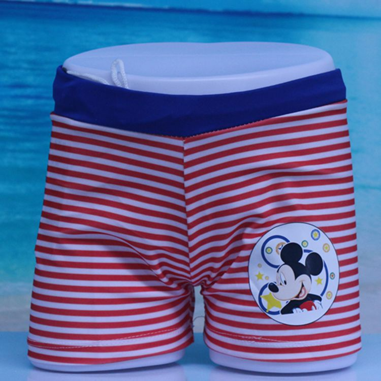 2018 New Style CHILDREN'S Swimming Trunks Fashion Stripes Boys' swimming trunks Digital Printing AussieBum