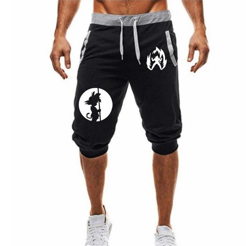 M-3XL Summer 2020 Man's Shorts Casual Shorts Fashion Dragon Ball Goku print Sweatpants Fitness Short Jogger male clothing