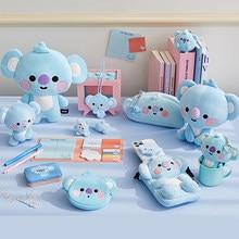 Anime k-pop brinquedos de pelúcia bonito brinquedos para meninas boneca animal dos desenhos animados sentado cão coelho koala recheado brinquedos presente para namorada