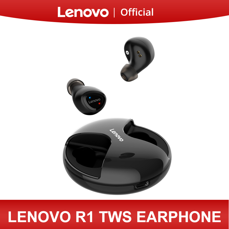 Lenovo R1 TWS Wireless <font><b>Bluetooth</b></font> Earphone Earbuds IPX5 Waterproof Design <font><b>Bluetooth</b></font> <font><b>5.0</b></font> for XiaoMi Huawei Lenovo <font><b>Smartphone</b></font> image