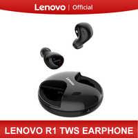 Lenovo R1 TWS bezprzewodowe słuchawki Bluetooth słuchawki douszne IPX5 wodoodporna konstrukcja Bluetooth 5.0 dla XiaoMi Huawei Lenovo Smartphone