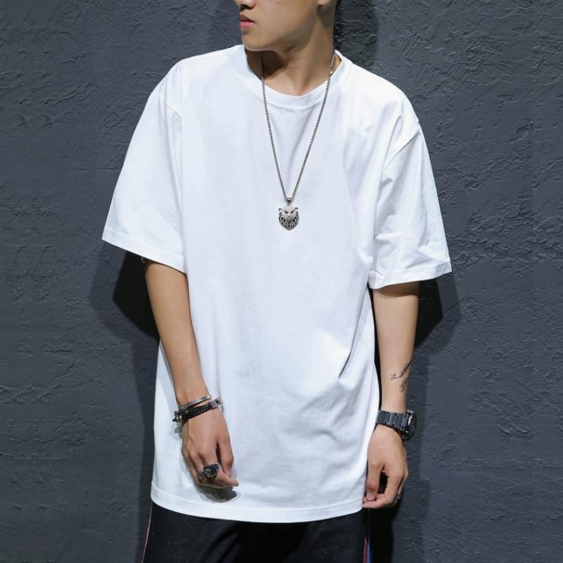 FOR 60-135KG Black White LOOSE Design 2020 MEN'S ROCK Skateboard Hip Hop T-shirt Short Sleeves Streetwear TOPS TEES TSHIRT