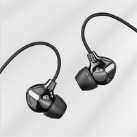 Rock Obsidian HIFI In Ohr Kopfhörer Stereo 3,5mm Kopfhörer Tiefe bass Luxus Earbuds mit mic Kabel Headset