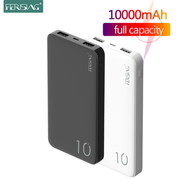 FERISING Power Bank 10000mAh PowerBank 10000 mAh USB Charger Portable External Battery Mobile Phone Charging For Xiaomi Mi 10 9