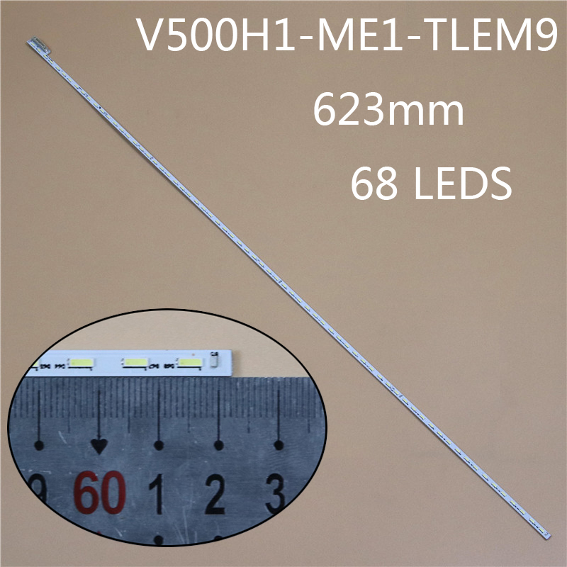 623mm 68LED TV LED Array Light Bar For TELEFUNKEN TF-LED50S10T2 LED Backlight Strip Matrix Kit LED Lamp Lens Bands V500HJ1-ME1