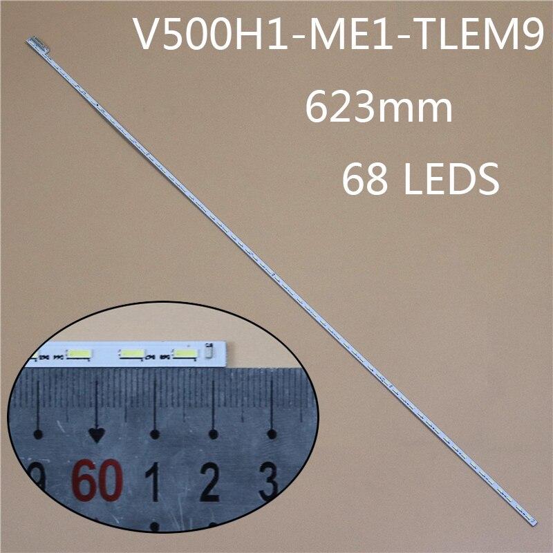623mm 68LED TV LED Array Light Bar For TELEFUNKEN TF-LED50S10T2 LED Backlight Strip Matrix Kit LED Lamp Lens Bands V500HJ1-ME1
