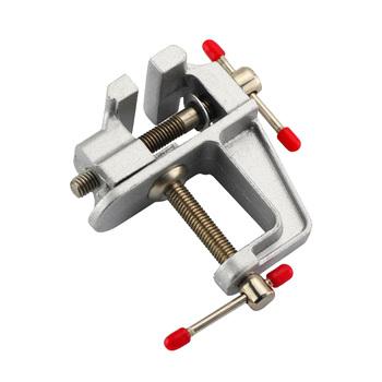 Na stół mini imadło ze stopu Aluminium ławka śruba imadło stołowe dla majsterkowiczów Jewelries formy rzemieślnicze naprawiono narzędzie do naprawy FKU66 tanie i dobre opinie High carbon steel Other