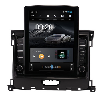 9.7 octa-core tesla style vertical screen Android 10 Car GPS radio Navigation for Ford Everest Ranger 2016-2018 image