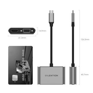 Image 5 - USB C 4K HDMI 및 VGA 듀얼 디스플레이 디지털 AV 어댑터 2018 2019 MacBook Air 및 iPad Pro, MacBook Pro (Thunderbolt 3), XPS 13