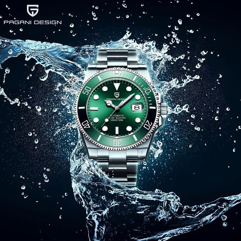 PAGANI DESIGN 2020 Men's Mechanical Watches For Men Automatic Watch Men Luxury Business Steel Wristwatch NH35A Relogio Masculino