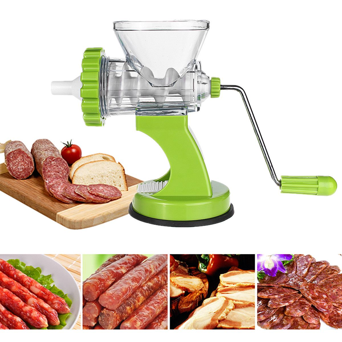 Multifunction Manual Meat Grinder Mincer Slicer Machine With Stainless Steel Blade/Tomato Vegetable Chopper Appliances For Home