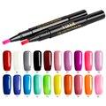 Блеск УФ-гель для ногтей Ручка DIY рисунки на ногтях дизайн Красота инструменты дополнительный лак для ногтей Гель-лак One Step Лак 20 Цвета