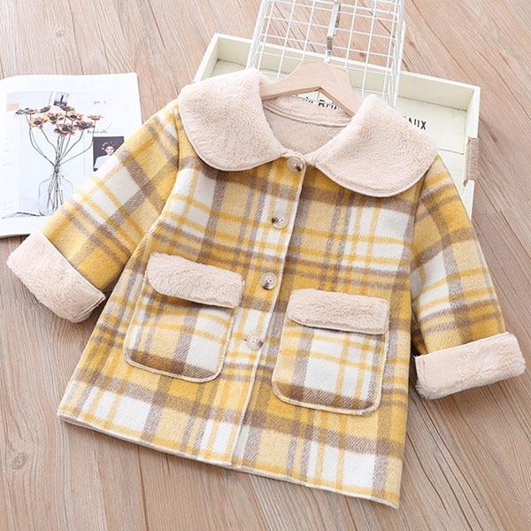 Girls' cotton-padded coats children's long coats