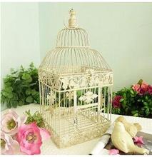 23*23*49cm European style decorative bird cage / window ornaments white photography props hotel wedding