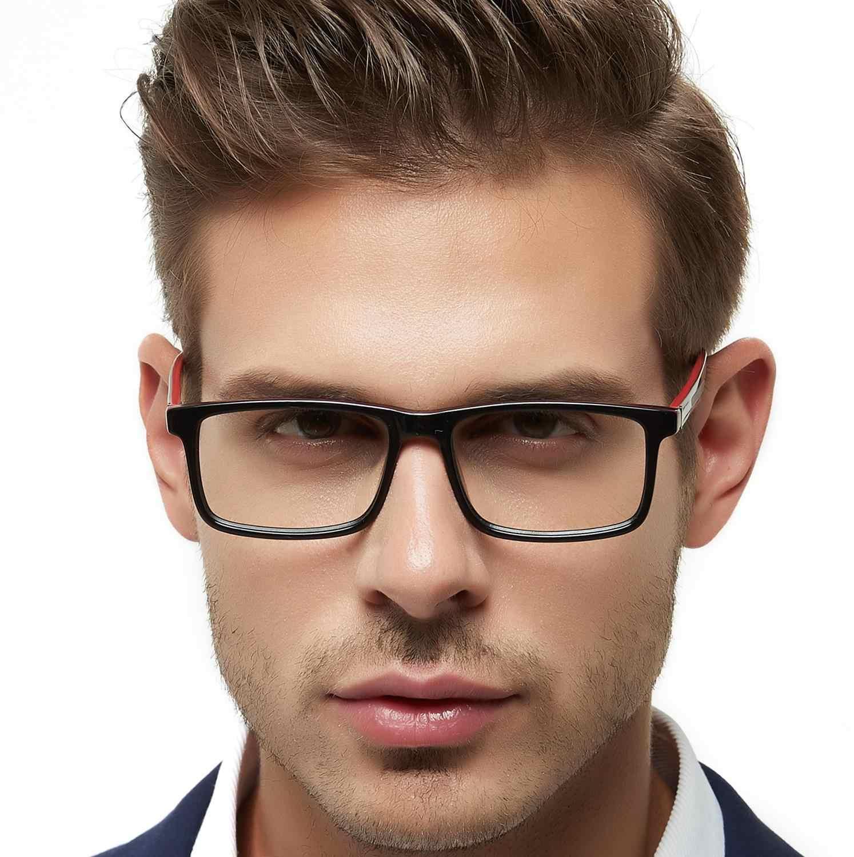 Occi chiari homem óculos quadros óculos de grau gafas acetato lente clara óptica miopia prescrição óculos W-CAPUA
