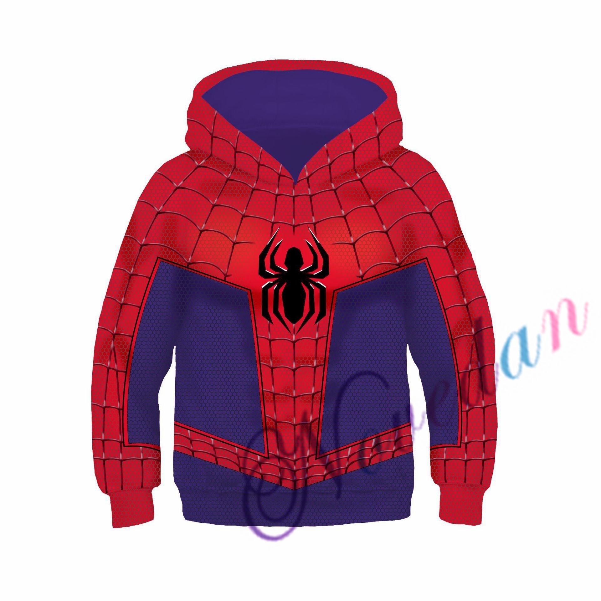 Kids Boys Hooded Endgame Cosplay Venom Man Sweatshirt Hoodie Costume Superhero Streetwear 6