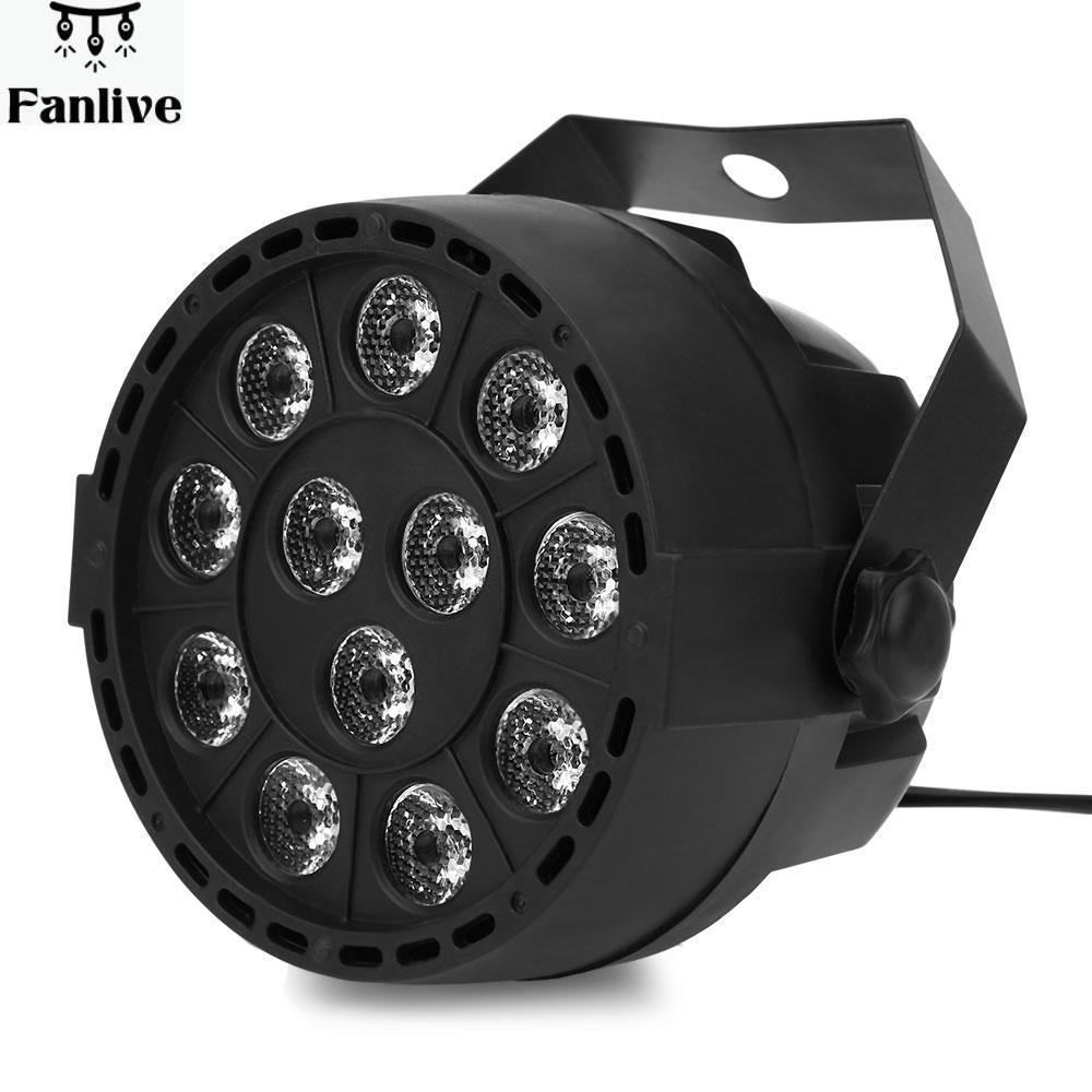 10pcs Portable Mini LED Stage Lights 18 RGB PAR LED DMX Stage Lighting Effect Projector DMX512 Led Flat Dj Disco KTV  Lighting