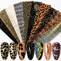 Змеиной ногтей дизайн передачи пленки мрамора исскуство ногати наклейки Ретро узор наклейки для ногтей наклейки слайдер DIY аксессуары для ...