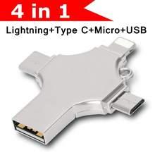 YXL-unidad Flash Usb 4 en 1 de diseño, 256GB, 128GB, 3,0, OTG, 16GB, 32GB, 64GB, cle, disco Flash Usb 3,0