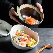 Criativo arroz bola tigela abacaxi frito arroz tigela hotel criativo cerâmica tigela de talheres tigela de salada de frutas tigela de café da manhã