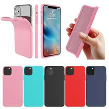 купить For iPhone 11 pro Max 6.5 Case TPU Bumper Built-in Velvet Material Protective Cover For iPhone 11 6.1 11 pro 5.8 Case Silicon по цене 125.05 рублей