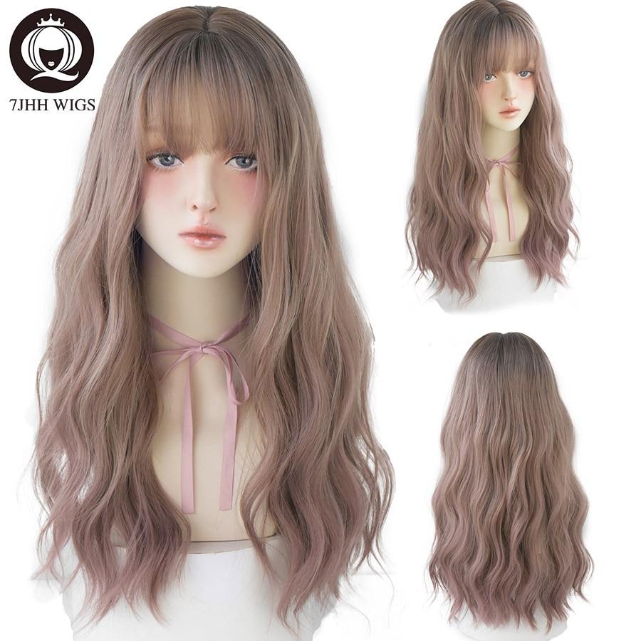 Sweet Vintage Harajuku Woman Lolita Dark Green Wig Cosplay Lolita Long Hair Girl