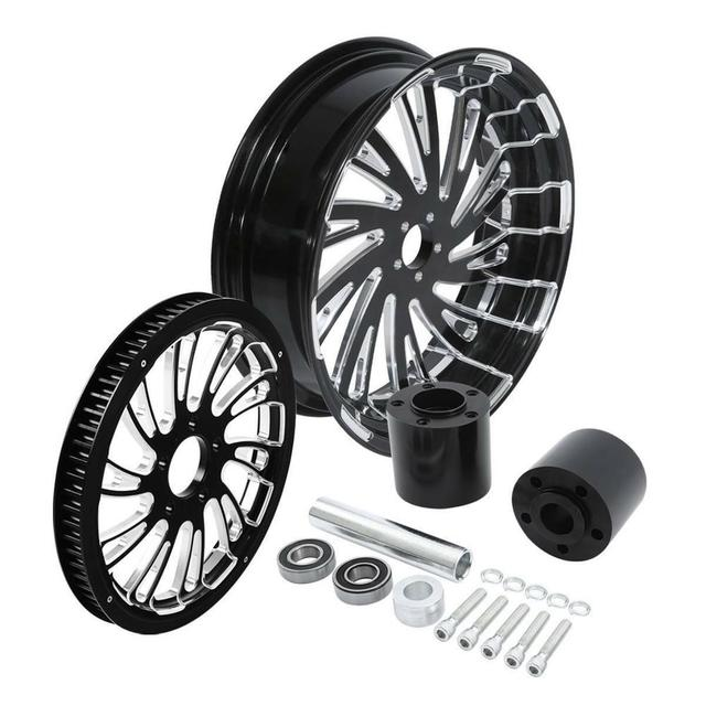 Motorcycle Rear Wheel Rim w/ Hub Set 6