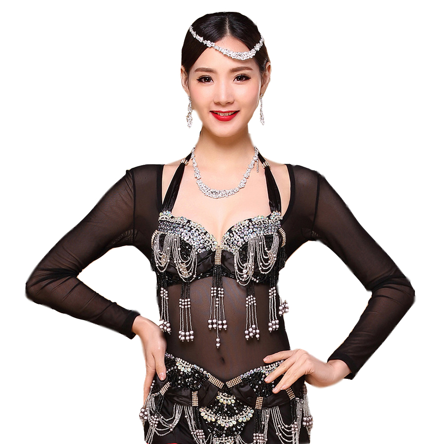 Plus Size One Piece Dancewear Long Sleeves Bellydace Accessories Women Bodysuit  Bottoming Shirt Belly Dance Tops