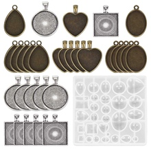 Trays Jewelry-Casting-Molds Teardrop Heart Round Oval And for Pendant Crafting Diy 5-Styles