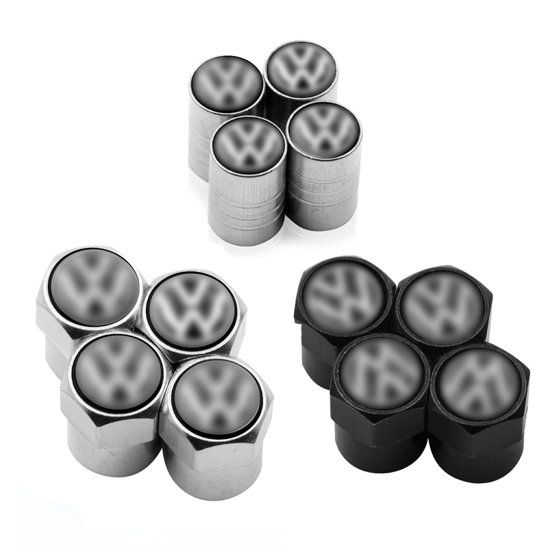 4pcs Car Tire Wheel Valve Cap Stem Air Protection Cover Car Styling For Volkswagen Polo Golf 3 4 5 6 7 B4 B5 B6 B7 B8