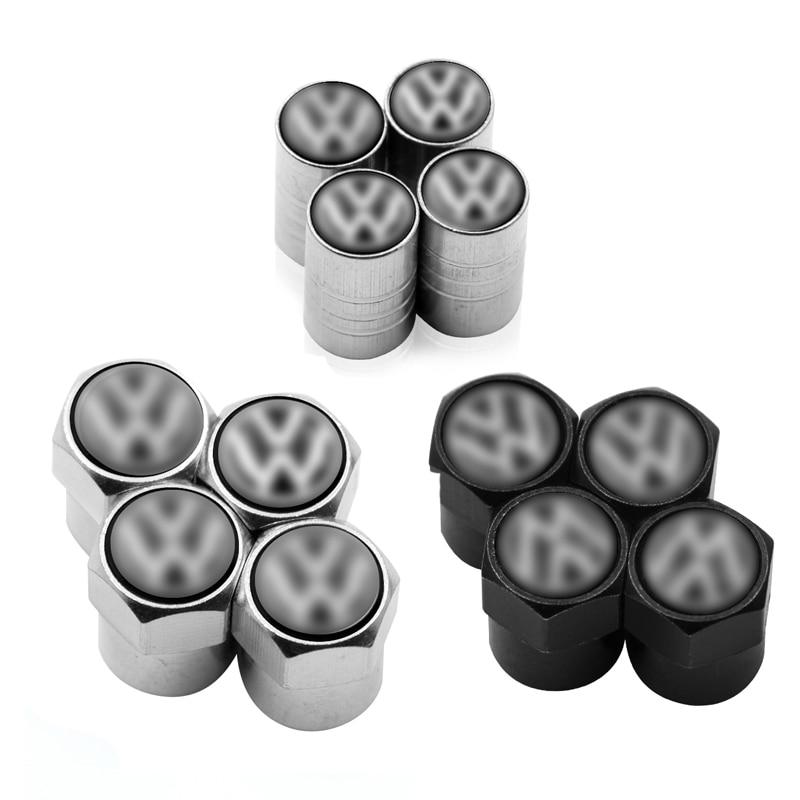 4pcs Car Tire Wheel Valve Cap Stem Air Protection Cover Car Styling For Volkswagen Polo Golf 3 4 5 6 7 B4 B5 B6 B7 B8