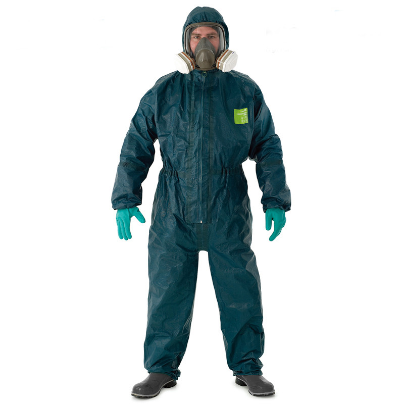 Heavy Chemical Protective Suit Clothing Jumpsuit Protective Lab Clothes Strong Acid Alkali Resistant Liquid Ammonia