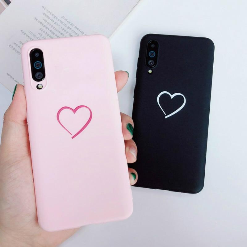 Mignon coeur damour coque en silicone souple pour iphone X XR XS Max couverture pour iphone 5 5S SE 6 6S 7 8 Plus 10 coques de téléphone