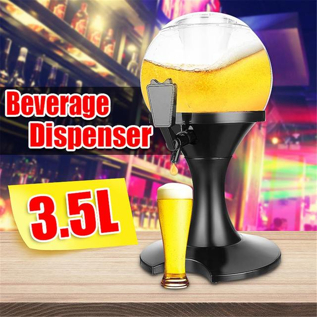 3.5L Bar Beer Tower Dispenser Party Wine Beer Water juice Beverage Tabletop Home Bar Liquid Drinking Ice Core Container Pourer