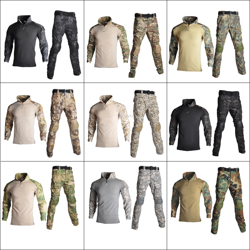 Tactical Camouflage Uniform Military Army Training Suits Airsoft Combat Shirt or Pants Hunting Clothes Paintball Sniper Clothing