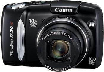 USED Canon PowerShot SX120IS 10MP Digital Camera with 10x Optical Images Stabilized Zoom and 3-inch LCD