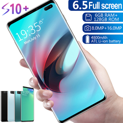 Plus récent Galax S10 G973U LTE téléphone portable 8GB RAM 128GB ROM 6.1 Octa Core 4 caméra Snapdragon 855 2020 4G 4800mAh grande batterie