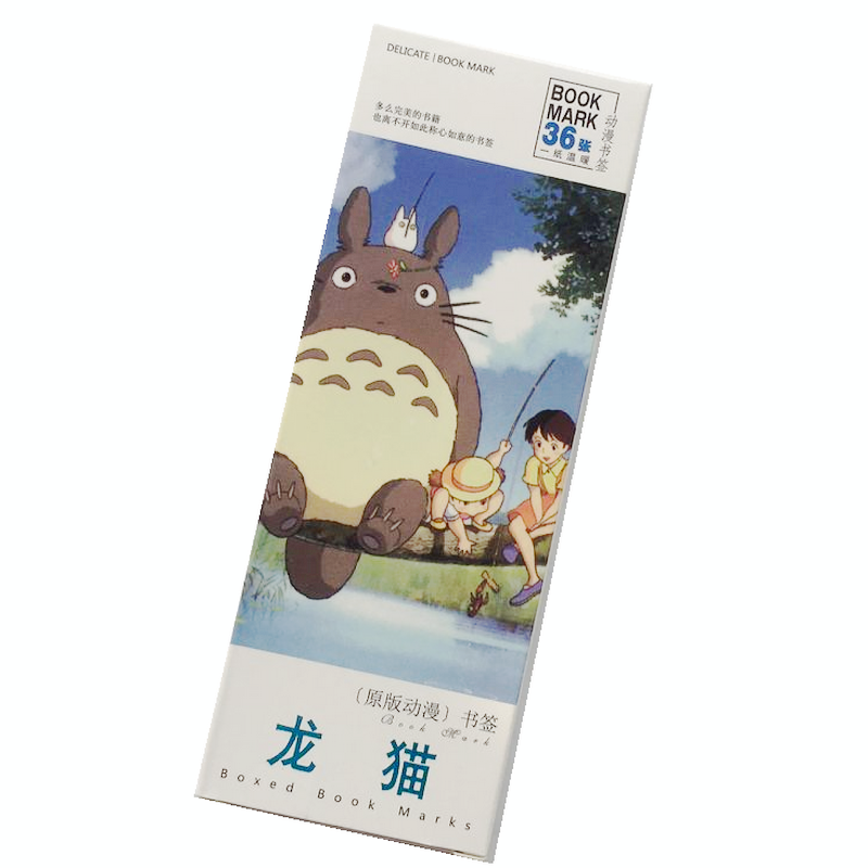 36 Pcs/Set Anime Miyazaki Hayao Totoro Paper Bookmark Stationery Bookmarks Book Holder Message Card Gift Stationery