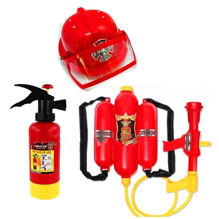 Simulation Water Gun Fire Extinguisher Toy Creative Plastic Mini Spray Style Exercise Toy Kid Gift Bathtub Beach Squirt EE5SQ