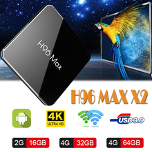H96 MAX X2 android tv box set-top  boxing S905X2 youtube 4K Support 2.4/5G Bluetooth 8 Smart TV Media Player