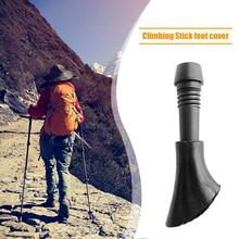 10pcs Climbing Hiking Trekking Pole Tips PVC Hiking Walking Stick Cover Pads Anti-slip Trekking Pole Tip Protector