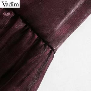 Image 3 - Vadim women elegant wine red mini dress bow tie collar long sleeve straight preppy style cute sweet dresses vestidso QD171