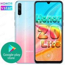 Original HONOR 20 lite SmartPhone 6.3 inch Kirin 710F Octa Core in Screen unlock Quick charge Google Play